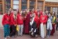 Iva Bittová přivítala Dalajlámu v naší škole písní Ej Lásko Lásko